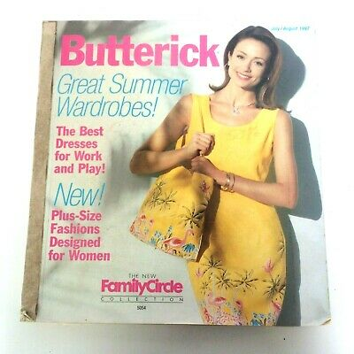 $39.99 • Buy Butterick Sewing Pattern Catalog July August 1997 Summer Big Store Counter Book