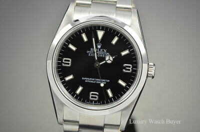 $ CDN9135.11 • Buy Mens Rolex Explorer I Stainless Steel Automatic Black Dial Watch Z Serial 114270