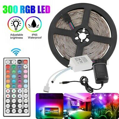 $12.34 • Buy 5M Flexible Strip Light 5050 RGB LED SMD Remote Fairy Lights Room TV Party Bar
