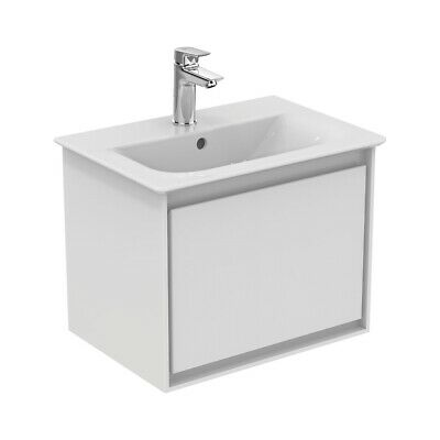 Ideal Standard Concept Air 1 Drawer Wall Hung Vanity Basin 500mm Gloss White/Mat • 409.95£