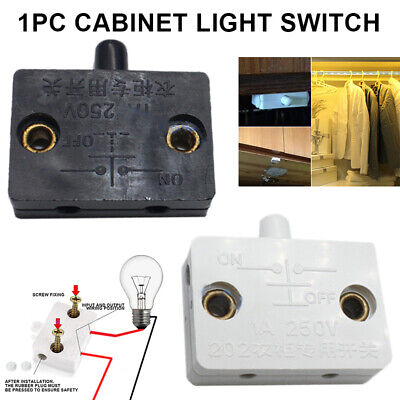 £2.39 • Buy Touch Automatic Reset Switch Wardrobe Cabinet Light Switch Door Control Switch