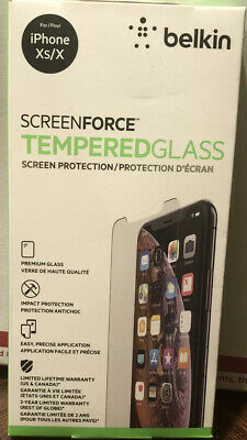 AU30.15 • Buy Belkin Screen Force Tempered Curve For IPhone XS IPhone X NEW But Open Box.