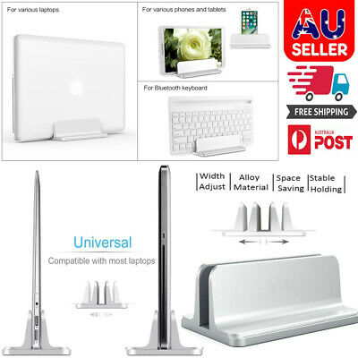 AU28.99 • Buy Vertical Laptop Stand Desktop Holder For Surface MacBook IPad Laptop Adjustable