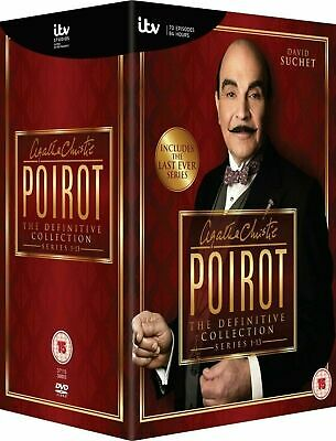 Poirot Complete Series   Seasons 1-13 Collection Box Set DVD   VGC FAST DISPATCH • 89.99£