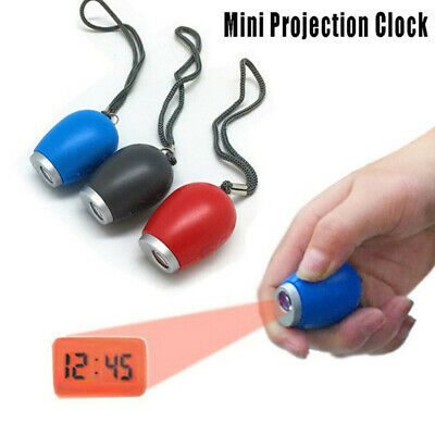 Digital Time Projection Clock Mini LED Watch Projector Flashlight Hanging Ro JE • 4.67£