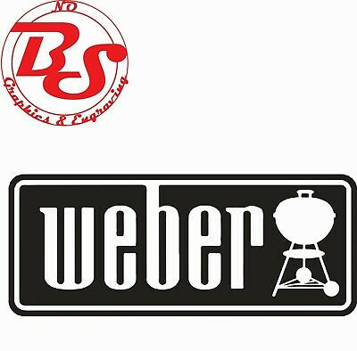 $ CDN29.51 • Buy Weber BBQ Grill Kettle Combo Vinyl 2 Pc Decal Set For COOLER Window Sticker NoBS