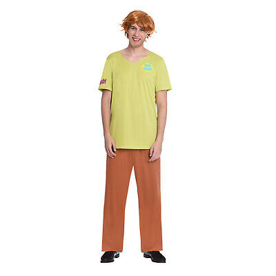 £27.99 • Buy Adults Shaggy Brown Fancy Dress Costume + Wig Scooby Doo Ladies Mystery Mens