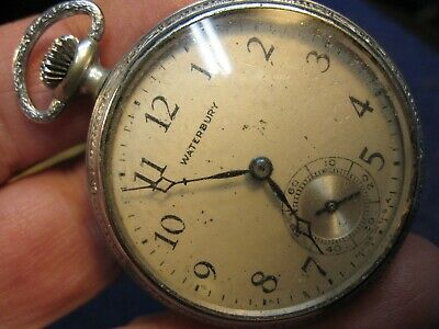 $19.95 • Buy 16s Waterbury Ingersoll Pocket Watch W Good Staff