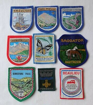 9  Embroidered Sew On Badges, Patches, Inc H.m.s Victory, Beaulieu Museum • 14.99£