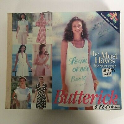 $39.99 • Buy Butterick Sewing Pattern Catalog Store Counter Book Large Big July August 1995