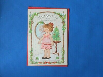 $5.99 • Buy Vintage Paper Doll Birthday Greeting Card New With Envelope Girl 5  X 7.5