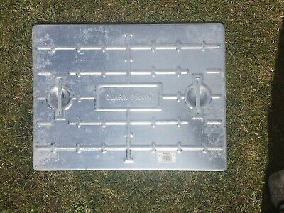 X2 Clarks Galvanised Steel Drain Cover / Man Hole. • 15£