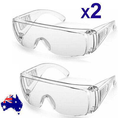 AU14.89 • Buy 2X Clear Anti Safety Goggles Glasses Eye Protection Work Lab Dust Clear Lens