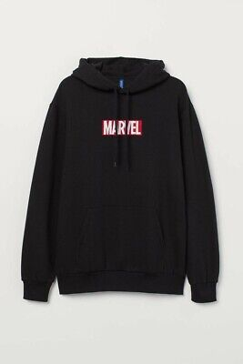 $29.99 • Buy H&M X Marvel Hoodie Mens Large Box Logo HM Divided