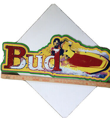 $ CDN163.29 • Buy VINTAGE BUD SIGN 90s BEER JET SKI NEON TIN MAN CAVE