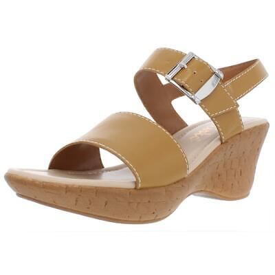 $12.59 • Buy Callisto Of California Womens Shelton Tan Wedge Sandals 9 Medium (B,M) BHFO 2002