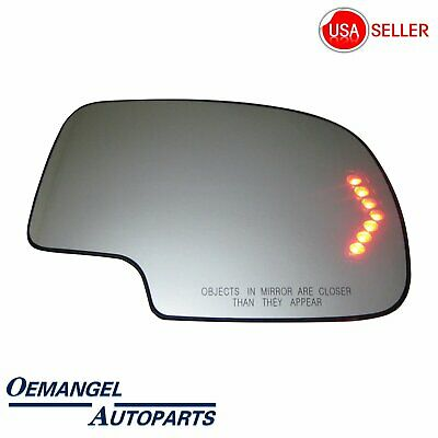 $17.68 • Buy For 2003-2007 Chevy GMC Cadillac Mirror Glass Heated Turn Signal Passenger Side
