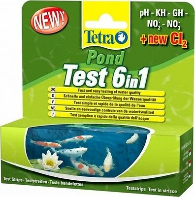Tetra Pond 6 In 1 Test Kit PH Nitrate Nitrite GH KH CL • 11.75£