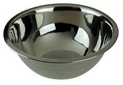 Large Stainless Steel Mixing Bowl Food Prepare Kitchen Home New 29cm 4.6 Litres • 7.99£