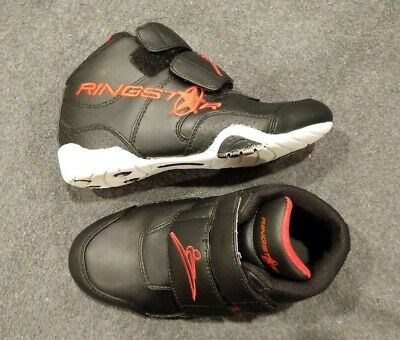 $23.49 • Buy Ringstar Sparring Shoes Sz 2 Boys Youth Karate Martial Arts Black Red EUC