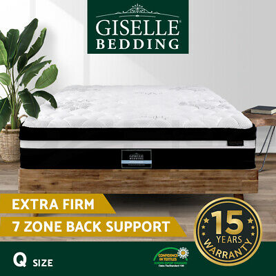 AU269.90 • Buy Giselle Queen Bed Mattress Size Extra Firm 7 Zone Pocket Spring Foam 28cm