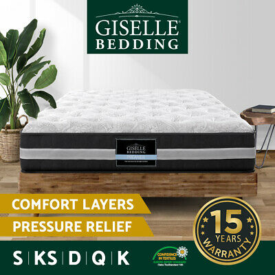 AU239 • Buy Giselle Mattress Queen Double King Single Premium 7 Zone Spring Firm Foam 30cm