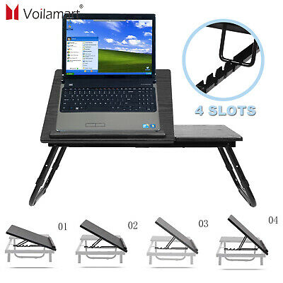 Adjustable Laptop Bed Table Stand Computer Desk Sofa Lap Tray Foldable Portable • 16.79£