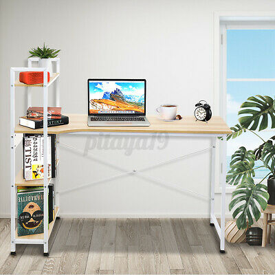 AU109.73 • Buy Workstation Computer Desk Table Storage Student Study Bookshelf Home Office Case