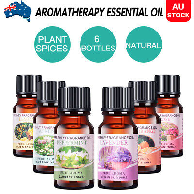 AU13.09 • Buy 6x10ml Essential Oils Set 100% Pure& Natural Aromatherapy Diffuser Essential Oil