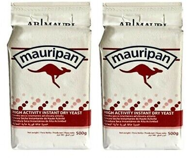 2 X 500g Mauripan Instant Dried Yeast Fast Acting For Bread Bakery Bakers New  • 12.99£