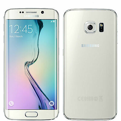 $ CDN162.40 • Buy Samsung Galaxy S6 Edge SM-G925F - 32GB - White (Unlocked) Smartphone