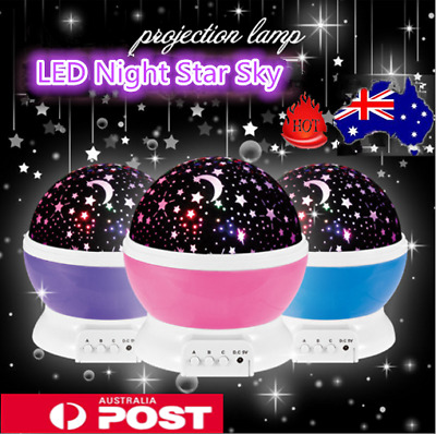 AU13.99 • Buy New Kids Room LED Night Light Star Sky Projector Lamp Rotating Starry Baby Gift