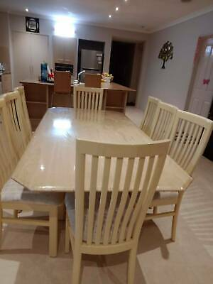 AU630 • Buy Solid Stone Dining Table -8 Seater ( Good Condition )