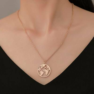 AU4.91 • Buy Girl Beauty Jewelry For Women Individuality 1Pc Europe And America World Map LS