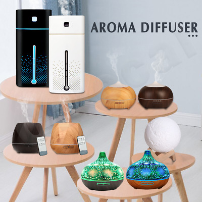 AU26.99 • Buy Aroma Aromatherapy Diffuser LED Essential Oil Ultrasonic Air Humidifier Purifier