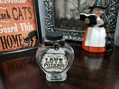 $ CDN20.29 • Buy Halloween LOVE Potion Clear Bottles With Key Decor Props