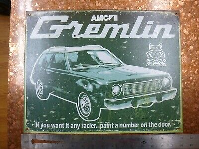 $15 • Buy AMC Gremlin Tin Collectible Sign Used