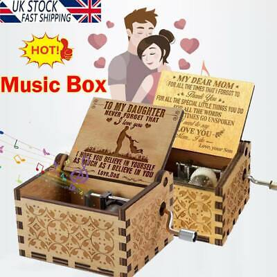 £6.17 • Buy You Are My Sunshine Wooden Engraved Music Box For Mom/Dad To Daughter/Son UK