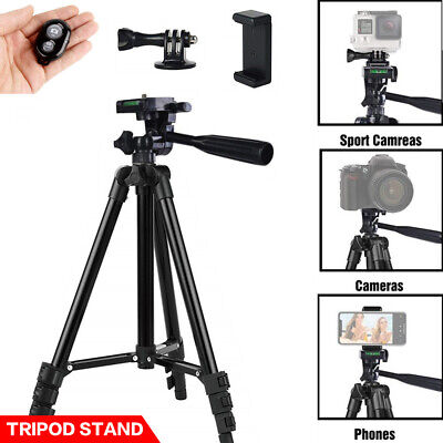 AU18.29 • Buy Portable Adjustable Camera Tripod Mount Stand + Phone Holder For Samsung IPhone