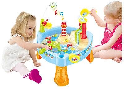 £9.99 • Buy Childrens Lighthouse Water Mill Play Table Fishing Game Lights & Sounds 889-68