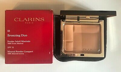 Clarins Bronzing Duo Mineral Powder Compact 10g - Choose Shade - Free Post - • 25.99£