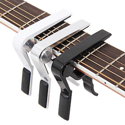 $ CDN4.29 • Buy Metal Guitar Capo For Acoustic/Electric/Classic Trigger Change Tune Key Clamp