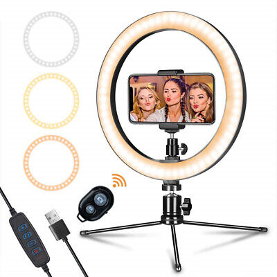 AU38.99 • Buy LED 10'' Ring Light With Tripod Stand Phone Holder Selfie Makeup YouTube Video