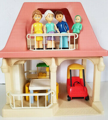 $80 • Buy LITTLE TIKES Pink Roof GRANDMA'S HOUSE Dollhouse With FAMILY Kitchen COZY COUPE