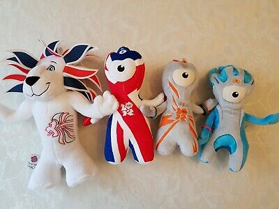 2012 London Olympics Mascot Toys Wenlock Mandeville Pride The Lion Limited Ed • 25£