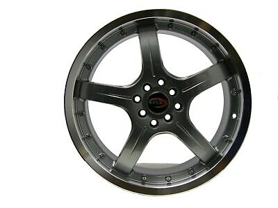 AU114.82 • Buy 18  Evoke F8 Style Alloy Wheels 4 Lug Pcd (100/114.3) Gunmetal  Single Piece