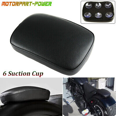 $12.95 • Buy Passenger Rear Pillion Passenger Pad Seat 6Suction Cup For Harley Bobber Chopper