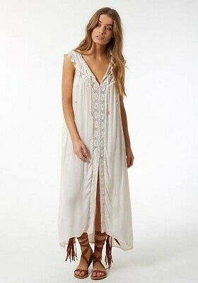 AU190 • Buy Spell & The Gypsy Collective - White Isla Bay Smock Maxi Dress - New With Tags