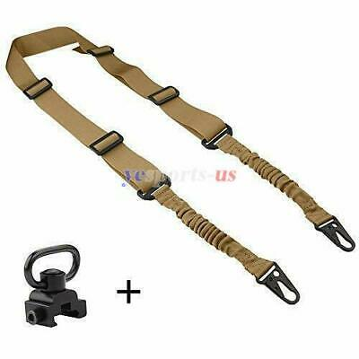 $ CDN17.93 • Buy Tactical 2 Point Rifle Sling Bungee Rifle With QD Sling Swivel For Shooting
