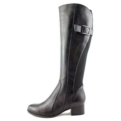 $99.99 • Buy NIB EVERYBODY Nellare Black LEATHER Riding Boots Shoes Womens Size 10.5 Euro 41